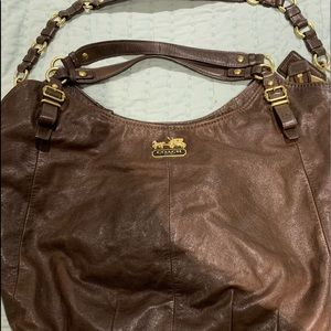 Coach boho brown leather authentic bag